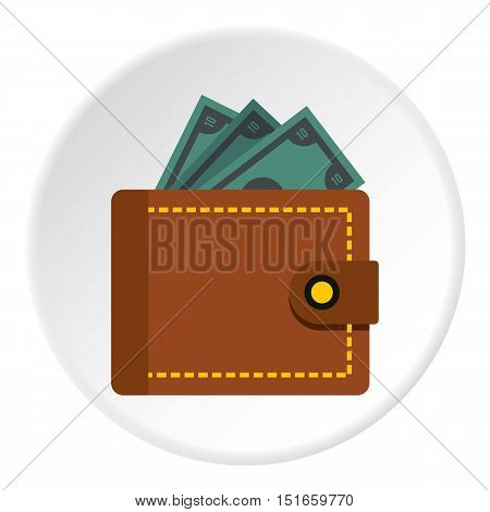Wallet icon. Flat illustration of wallet vector icon for web design