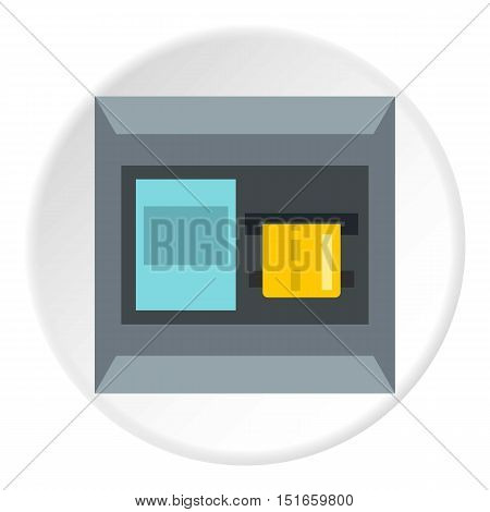 ATM machine icon. Flat illustration of ATM machine vector icon for web design