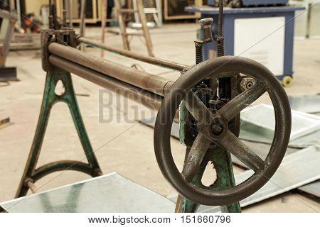 Manual Bending Roller Machine for Metal Sheet Works