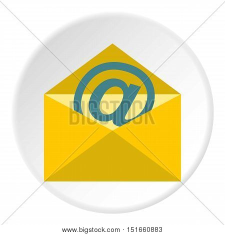 E-mail icon. Flat illustration of e-mail vector icon for web