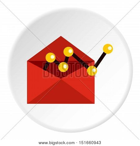 E-mail configuration icon. Flat illustration of e-mail configuration vector icon for web