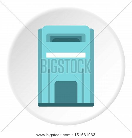 Blue inbox icon. Flat illustration of blue inbox vector icon for web