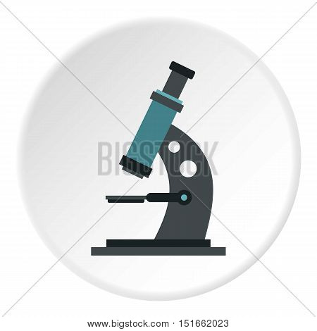 Microscope icon. Flat illustration of microscope vector icon for web