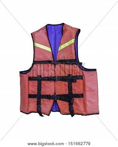 Life jacket isolated on white with clipping path