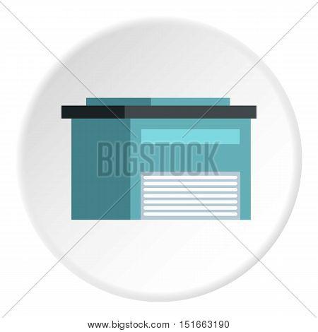 High barn icon. Flat illustration of high barn vector icon for web