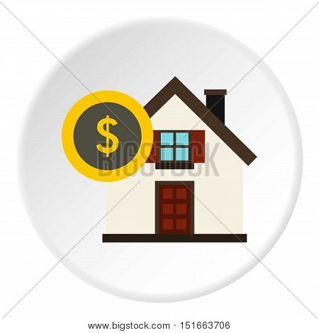 Buying home icon. Flat illustration of buying home vector icon for web