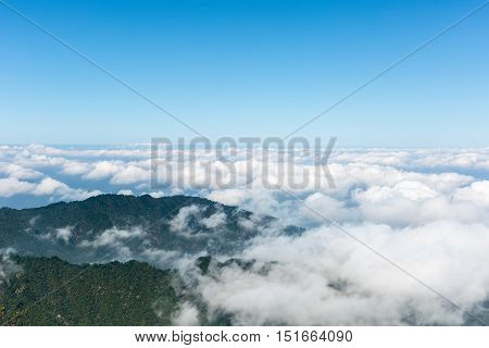 sea of clouds at jiugong mountain hubei provinceChina