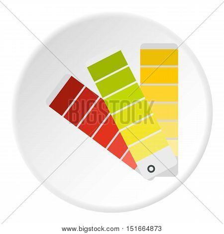 Paper color palette icon. Flat illustration of paper color palette vector icon for web