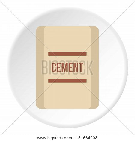 Pouch of cement icon. Flat illustration of pouch of cement vector icon for web