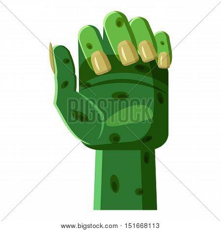 Zombi arm icon. Cartoon illustration of zombi arm vector icon for web