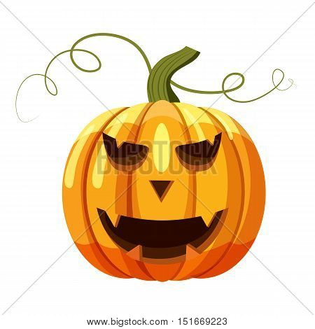 Halloween pumpkin icon. Cartoon illustration of halloween pumpkin vector icon for web