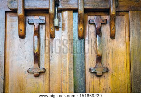 Old Wooden Door Suitable For Background And Texture.