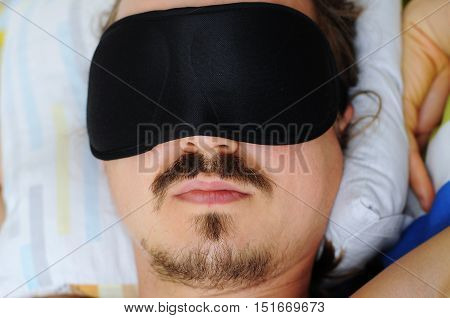 Man With Sleep Mask