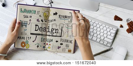 Design Creative Ideas Objective Planning Sketch Concept