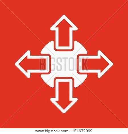 The navigation icon. Arrows symbol. Flat Vector illustration