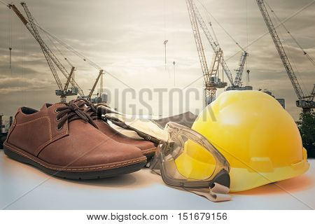 construction safety, safety equipment construction site blackground