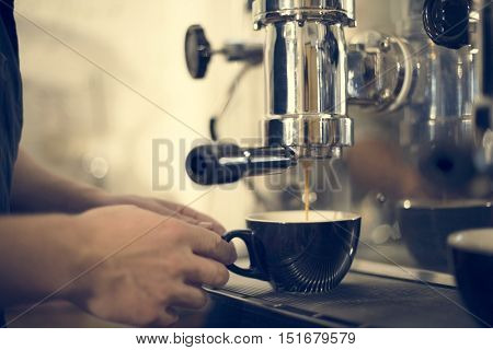 Coffee Machine Barista Grinder Steam Cafe Concept