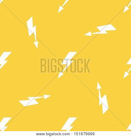 White lightnings yellow seamless pattern background. Vector illustration