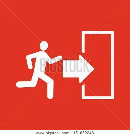 The exit icon. Emergency Exit symbol. Flat Vector illustration