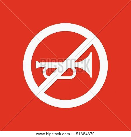 The keep quiet icon. No sound symbol. Flat Vector illustration. Button Set