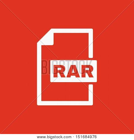 The RAR file icon. Archive, compressed symbol. Flat Vector illustration