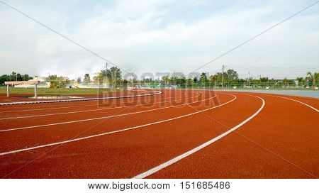 Athlete Track or Running Track and Running track with corner Run
