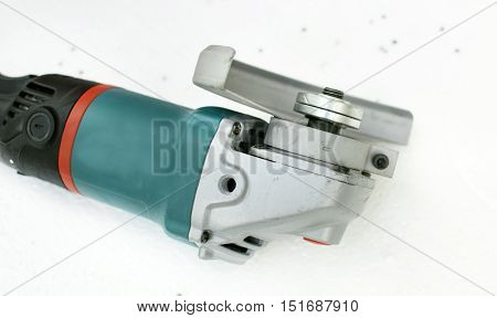 Angle Grinder With A Protective Casing