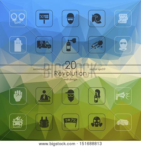 revolution modern icons for mobile interface on blurred background