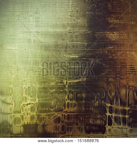 Shabby texture or background with classy vintage elements. Grunge backdrop with different color patterns: yellow (beige); brown; gray; green; black
