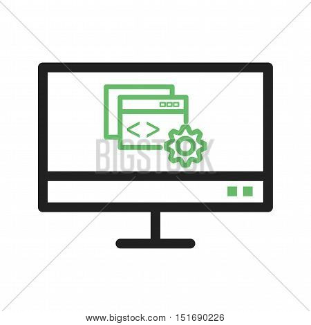 Configuration, web, programming icon vector image. Can also be used for software development. Suitable for use on web apps, mobile apps and print media.