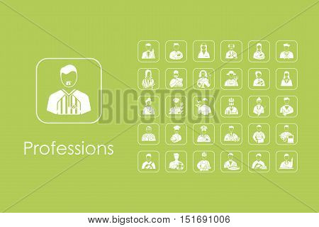 It is a set of professions simple web icons