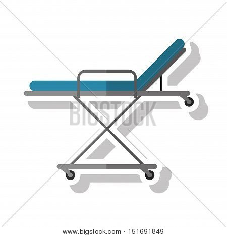 Stretcher icon. Medical health care and hospital theme. Isolated design. Vector illustration