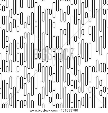 Seamless Stripe and Line Pattern. Vector Black and White Texture. Fine Graphic Design