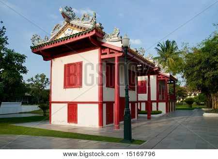 Chinese Style Buildings At The Bang Pa In Palace, Thailand
