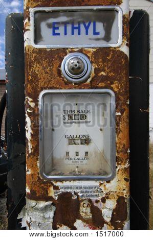Old Rusty Gas Pump