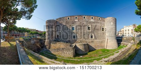 Castello Ursino Or Bear Castle In Catania, Sicily