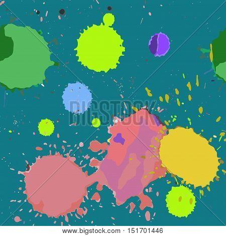 Seamless Pattern Multicolored Spots