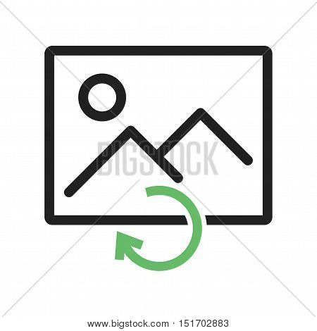 Reload, image, picture icon vector image. Can also be used for user interface. Suitable for use on web apps, mobile apps and print media.