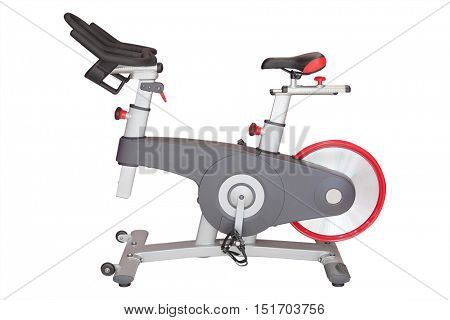 Fitness hall with sport bicycle