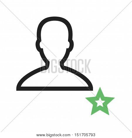 Favorite, male, profile icon vector image. Can also be used for user interface. Suitable for mobile apps, web apps and print media.