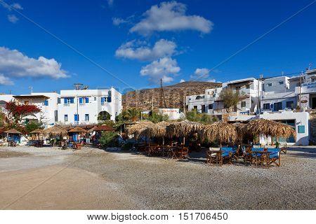 KARAVOSTASIS, GREECE - SEPTEMBER 25, 2016: Karavostasis village on Folegandros islands early in the morning on September 25, 2016.