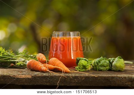 Appetizing Juice From Carrots And Apples