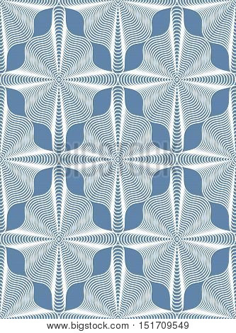 Ornate vector abstract background with white lines. Symmetric decorative graphical pattern geometric illustration.