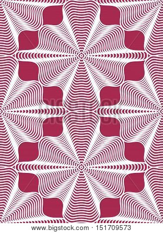 Geometric red stripy seamless pattern bright vector abstract background.