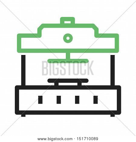 Press, machine, manufacturing icon vector image. Can also be used for Industrial Process. Suitable for mobile apps, web apps and print media.