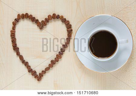 Coffee Milk Top View