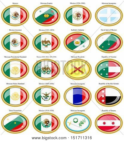 Flags Of The Mexico