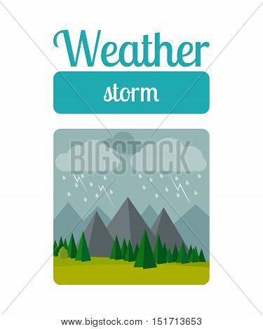 Weather illustration in flat style vector. Storm