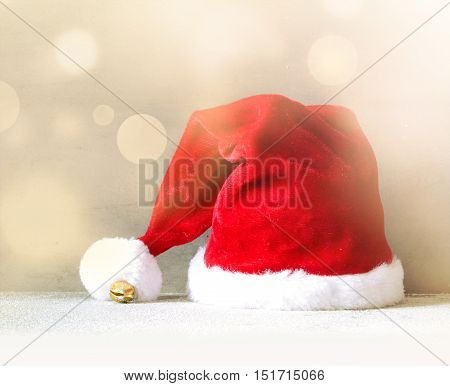 Christmas background with Santa hat.Happy new year. santa hat .