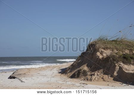 Washed Away Sand Dunes from Hurricane Matthew